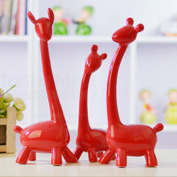 China Ceramics Ornaments 3pcs Deers Crafts Home Decoration