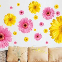 Chrysantheme Blumen Muster dekorative Wand Kunst Aufkleber