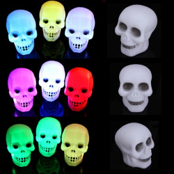 Colorful Flash LED Skull Night Light Lamp Party Decoration Gift