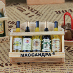 Creative Household Wooden Bottle Fridge Magnet
