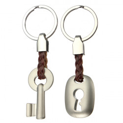 Creative Lock Key Couple Keychain Key Chain Ring Keyring