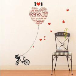 Creative Kærlighed Kat Wallstickers Boligmontering Decal Kærlighed Sticker