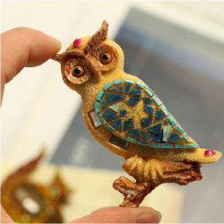 Creative Personality Resin Relief Novelty Owl Fridge Magnets