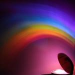 Kreativa Regnbåge Romantisk Stjärna LED Projicering Lampa Nattljus Heminredning