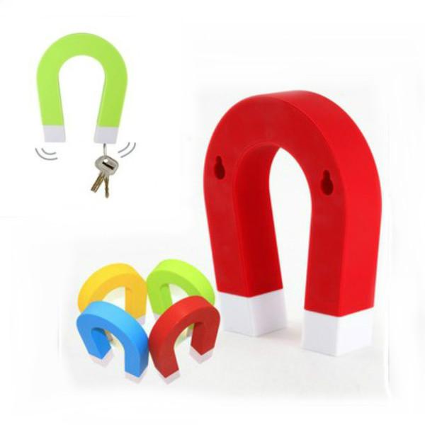 Creative U-shaped Magnetic Key Holder Chain Hanging Hook Home Decor