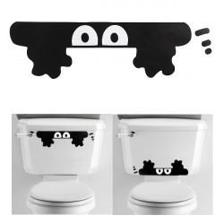Cute Cartoon Peeping Elf Wall Car Bathroom Toilet Sticker Home Decal