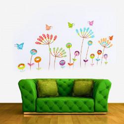 DIY Schmetterlings Blumen entfernbare Wand Aufkleber Abziehbild Ausgangsdekor Kunst