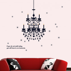 DIY Chandelier Elegant Wall Sticker Room Art Decoration Mural Decal