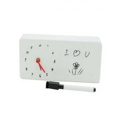 DIY Zifferblatt Memo Clock lassen Mitteilung auf White Board Tischuhr