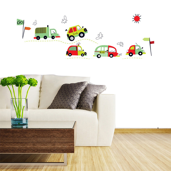DIY Coloful Car Removable Wall Decal Stickers Art Kid Room Home Decor Home Decor