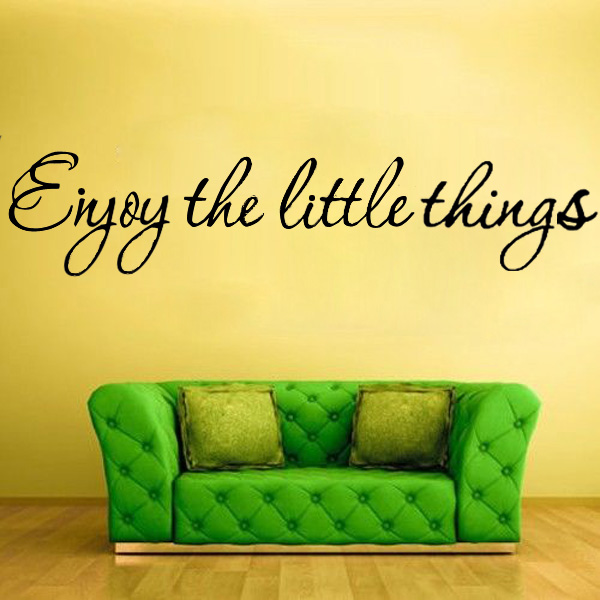 DIY Enjoy The Little Thing Removable Art Vinyl Quote Wall Sticker Mural Home Decor