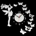 DIY Fairy Butterfly Acrylic Wall Sticker Clock Home Decoration Home Decor