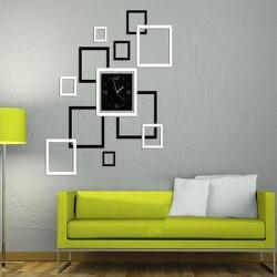 DIY Spejl Vægur Sticker Modern Ramme Sticker Boligmontering