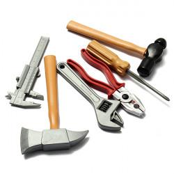 DIY Plast Building Værktøj Set Kits Builders Construction Legetøj