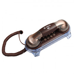 Delicate Classic Brown Copper Wall Land Line Telephone Home Phone