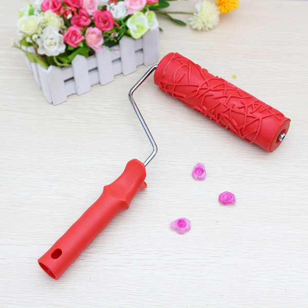 Diatom Ooze Tools Wall Painting Tool 7inch Rubber Embossed Roller Home Decor