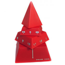 EMPO Design Concept PVC Pyramid Decorative Clock