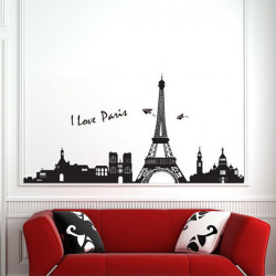 Eiffel Tower Paris Wall Sticker Art Mural Wall Removable Wallpaper