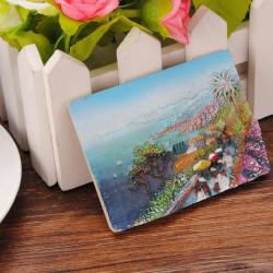 European Rural Household Painted Resin Fridge Magnets