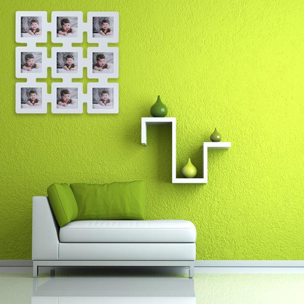 European Style Wood Komposition Foto Vägg Picture Frame Heminredning Heminredning
