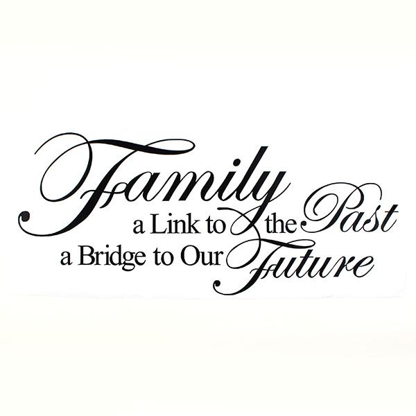 Familje En Länk till Det Förflutna En Väg till Vår Framtid PVC VäggPapper 8025 Heminredning
