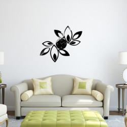 Fashion Blomster Klistermärken DIY Heminredning Spegel Väggklocka Klistermärken