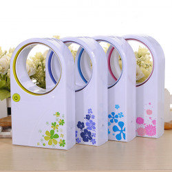 Fashion Household Mini Portable Bladeless Fan No Leaf USB Small Fan
