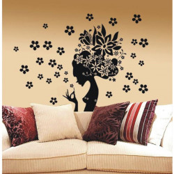 Floral Fairy Removable Art DIY Wall Sticker