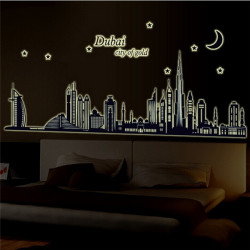 Fluorescerende Glow Dubai By Building Luminous Wallsticker
