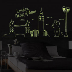 Fluorescent London City Dream Wallstickers