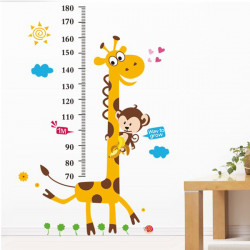 Giraffe Height Measuring Wall Stickers Decorative Wallpaper