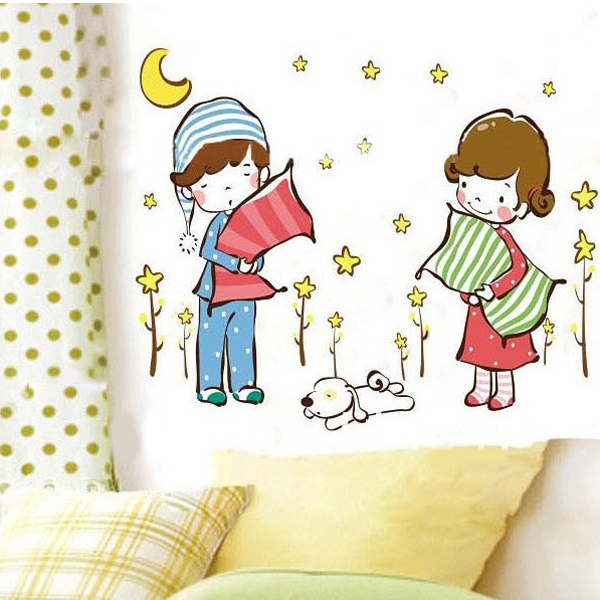 Good Night Bedroom Removable Wallpaper Mural Art Wall Sticker Home Decor