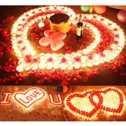 Gradient Color Eco-friendly Romantic Candle - 9PCS