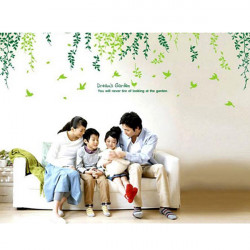 Green Tree Wall Paster House Garden Removable Background Wall Sticker