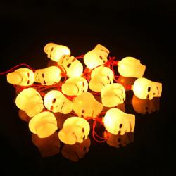 Halloween LED blinkt Schädel Kopf Schnur Licht 220V 16 Leds
