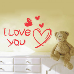 Hand-painted Wall Poster Solid I Love You