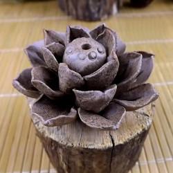Handgjorda Lera Keramiska Rökelsehållare Lotus Leaf Rökelsekar