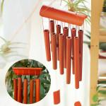 Heminredning Rektangulära Bamboo Wood Wind Chime Trädgård Prydnad Heminredning