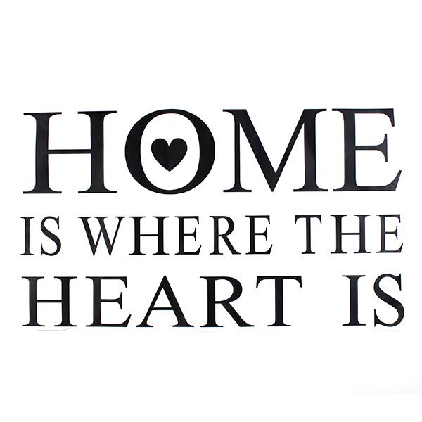 Hjem er hvor hjertet er Quote Wall Stickers PVC Avtagbart ZY8123 Hjem & Inredning