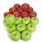 Home Party Decorative Fake Red Green Apples Fruit Vegetable Home Decor
