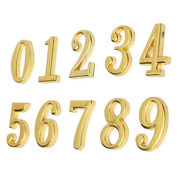 House Hotel Golden NAMNSKYLT Nummer 0-9 Med Skruvar Heminredning