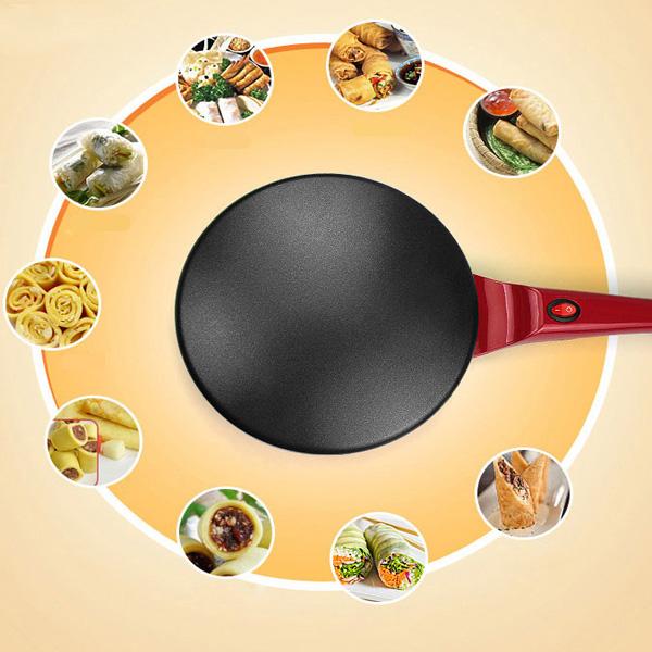 Hushålls DIY Crepe Makers Bekväm Tunn Bakning Elektrisk Pan Kaka Hushållsapparater