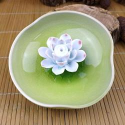 Jingdezhen Keramiska Lotus Rökelsehållare Rökelsekar Handgjorda Hantverk