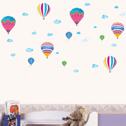 Kids Room House Decorative Poster Fire Balloon Wall Sticker