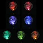 LED Color Changing Solar Powered Path Glass Ball Light Home Decor