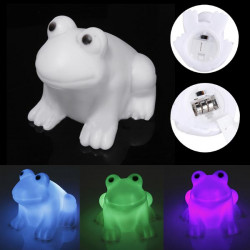 LED Cute Frog Night Light Novelty Lamp Changing Colors Light