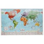 Stor Karta Över Världen Med Country Flags Bakgrund Heminredning Heminredning