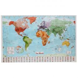 Große Karte der Welt mit Länderflaggen Wallpaper Home Decoration