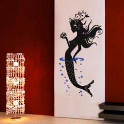 Lilla Sjöjungfrun Väggdekal Abstract Art Decor