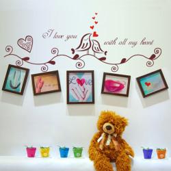 Liebes Vogel Foto Rahmen Design Abnehmbare Wandaufkleber Home Decor